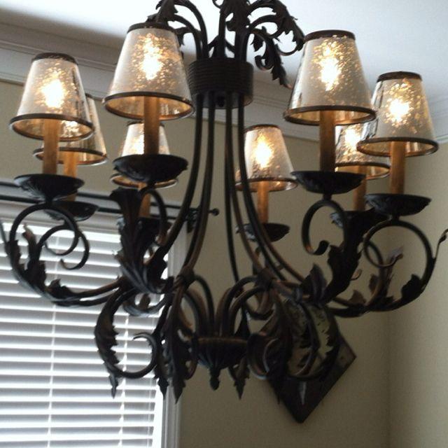 Mercury glass chandelier shades. | Mercury glass chandelier, Glass .