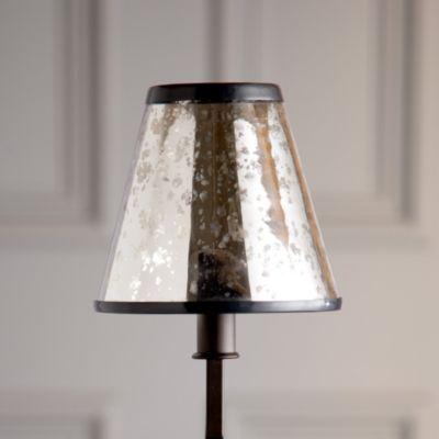 Mercury Glass Chandelier Shade | Glass chandelier shad