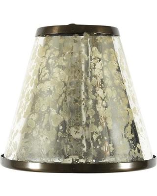 Deals on Ballard Designs Mercury Glass Chandelier Sha