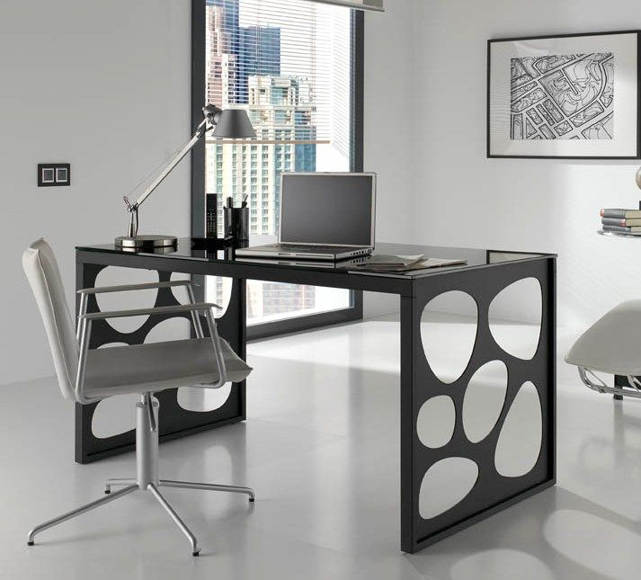 Modern Glass Office Desk Office furniture | Büro schreibtisch .