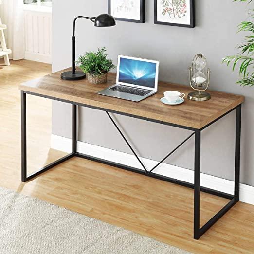 Amazon.com: FOLUBAN Rustic Industrial Computer Desk,Wood and Metal .