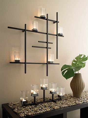 Modern Grid Candle Sconce | Modern apartment decor, Decor, Home dec