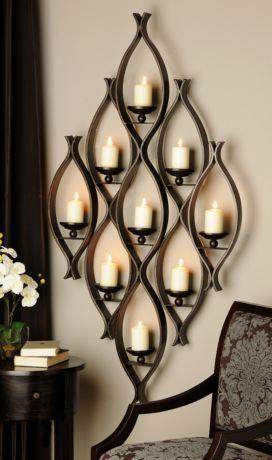 9-Pillar Candle Holder | Decor, Iron decor, Candl