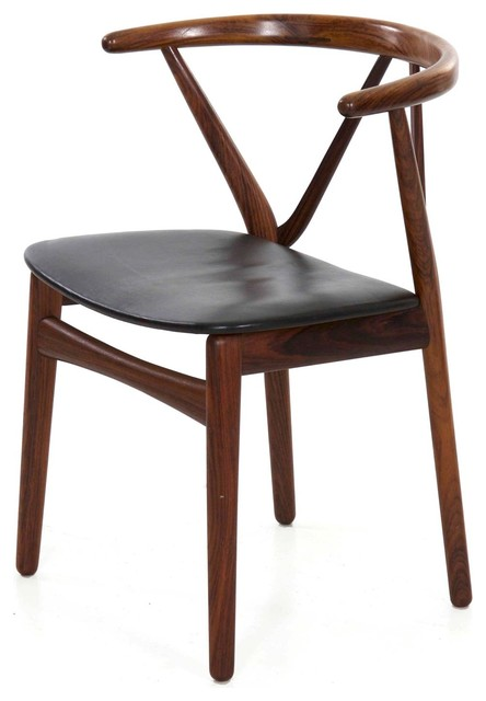Consigned Danish Mid Century Modern Rosewood Arm Chair circa 1950s .