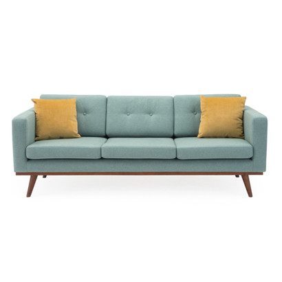 James Mid-Century Living Room Furniture - Blue Mid-century Modern So