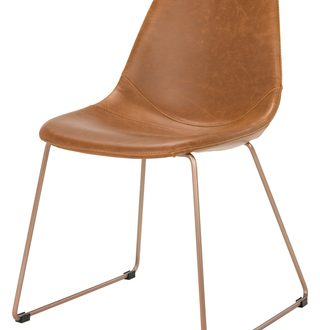 The Best Sales for Dorian Mid-Century Modern Leather Dining Chair .