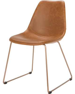 Mid Century Modern Leather Dining Chairs