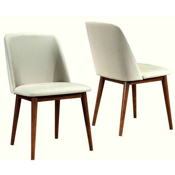 Shop Soho Mid-Century Modern Upholstered Dining Chairs (Set of 2 .