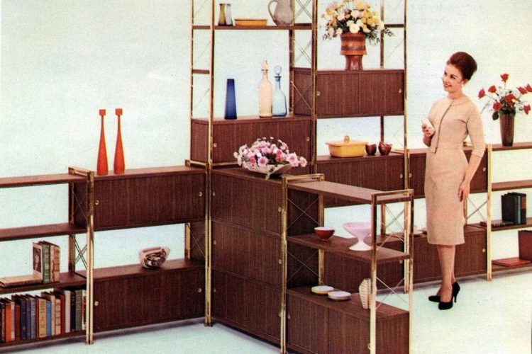Design-A-Wall modular shelves for the mid-century modern home .