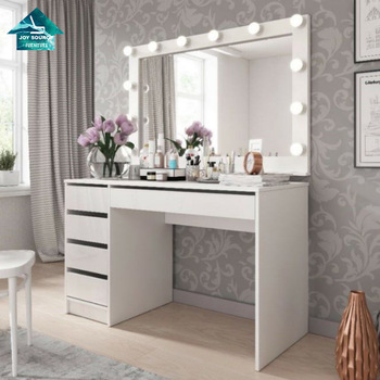 White Wood Mirror Almirah Simple Dressing Table Designs With .