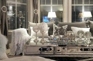 Mirrored Glass Living Room Furniture | Glam living room, Living .