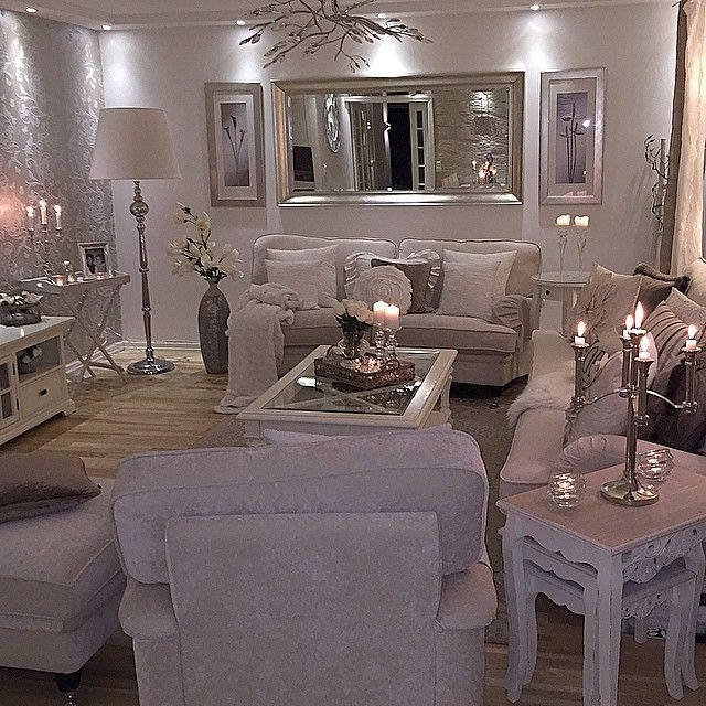 Mirrored Glass Living Room Furniture | Home, Cozy living rooms .