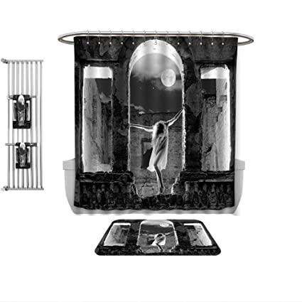 Amazon.com: QINYAN-Home 4 Piece Bath Rug Set-Modern Mysterious .