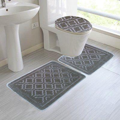Red Barrel Studio Chagnon 3 Piece Bath Rug Set | Bathroom rug sets .