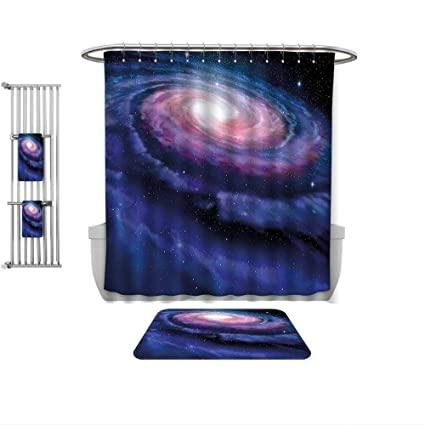 Amazon.com: QINYAN-Home 4 Piece Bath Rug Set-Modern Decor Spiral .
