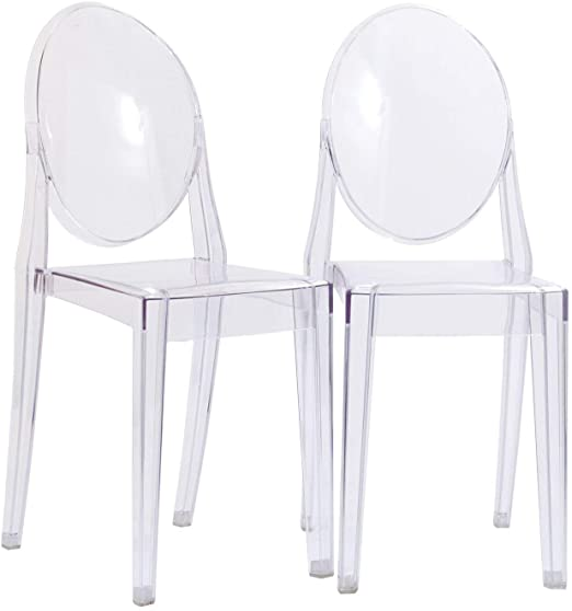 Amazon.com: Modway Casper Modern Acrylic Stacking Two Dining Side .