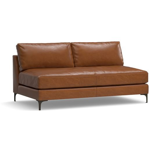 Armless Loveseat Sofas | Love seat, Leather sofa, Best leather so