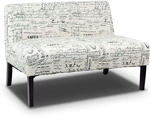Amazon.com: Giantex Armless Loveseat Sofa Modern Sofa Chair Couch .