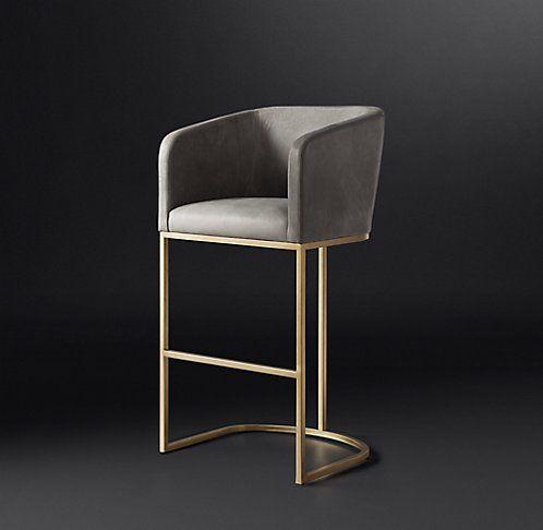 All Bar & Counter Stools | RH Modern | Contemporary bar stools .