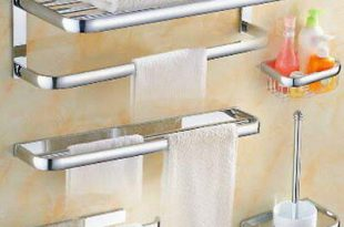Chrome Modern Bath Accessories Towel Bar Ring Toilet Bathroom .