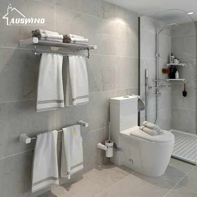 Wall Mounted Modern Bathroom Hardware Set 304 Stainless Steel Bath .