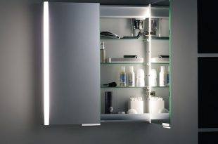 Illuminated Bathroom Mirror Cabinet | Bathroom mirror cabinet .