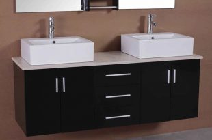 Adorna 61 inch Contemporary Double Sink Bathroom Vani
