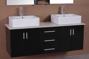 Adorna 61 inch Contemporary Double Sink Bathroom Vani