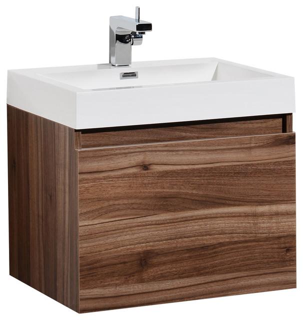 "Aquamoon Venice 23 3/4"" Infinity Sink Modern Bathroom Vanity Set ."