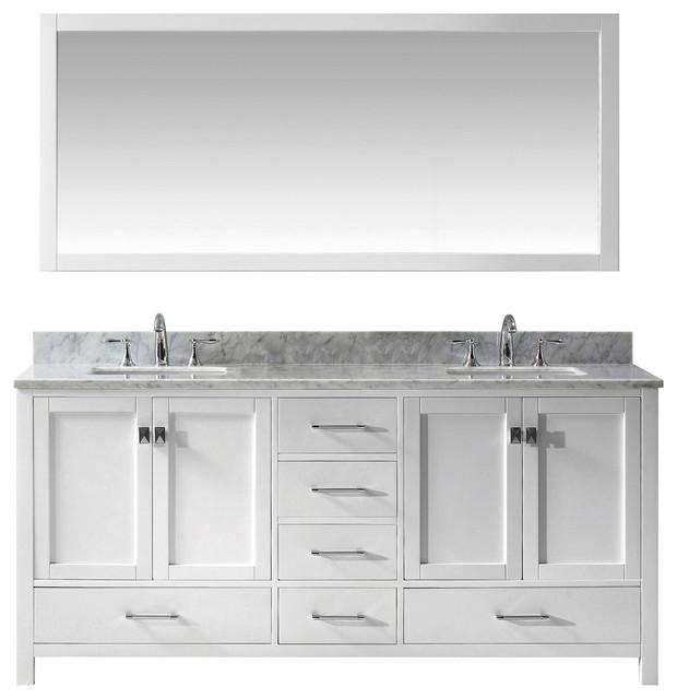 "Caroline Avenue 72"" Double Vanity - Transitional - Bathroom ."
