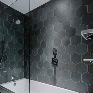 75 Beautiful Modern Tub/Shower Combo Pictures & Ideas | Hou