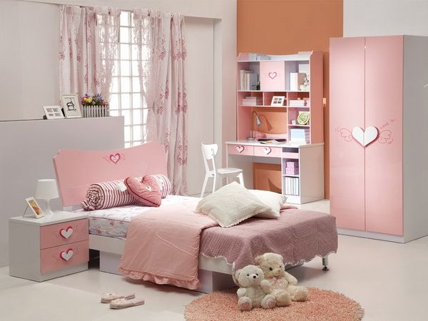 Eye Catching Remarkable Pink Girl Modern Furniture Sets for .
