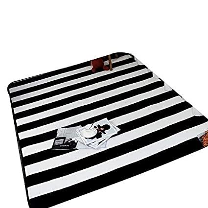 Amazon.com: USTIDE Modern Black and White Striped Rug 4'x5'2 .