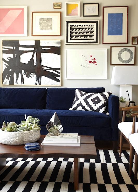 Ikea Stockholm - Eclectic - living room - Benjamin Moore Half Moon .
