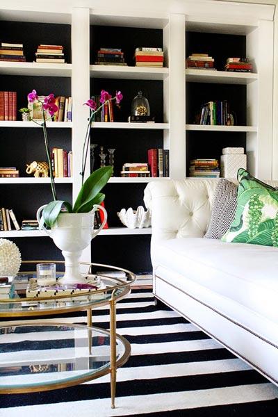 75 Delightful Black & White Living Room Photos | Shutterf
