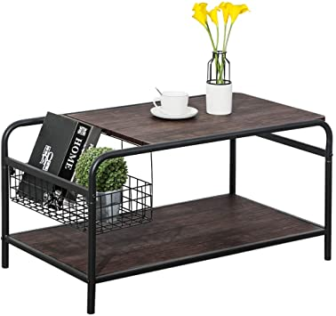 Amazon.com: Rustic Coffee Tables with Storage, Living Room Wood .