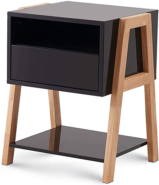Amazon.com: TaoHFE Bedroom End Table with Large Storage Drawer .
