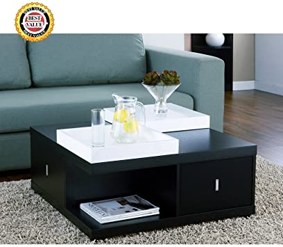 Modern Black End Tables With Storage