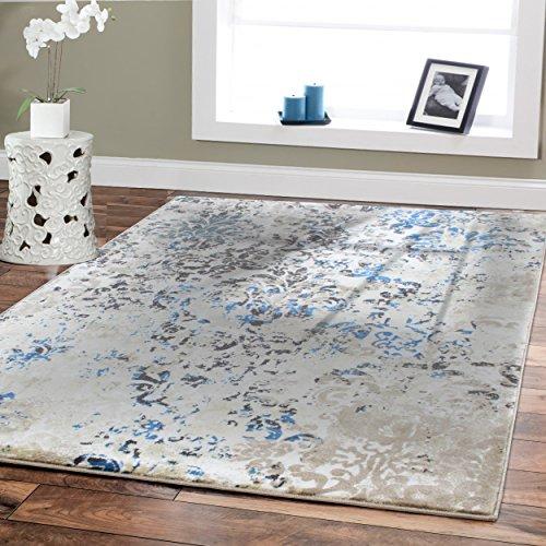 Modern Blue Area Rugs For Living Room