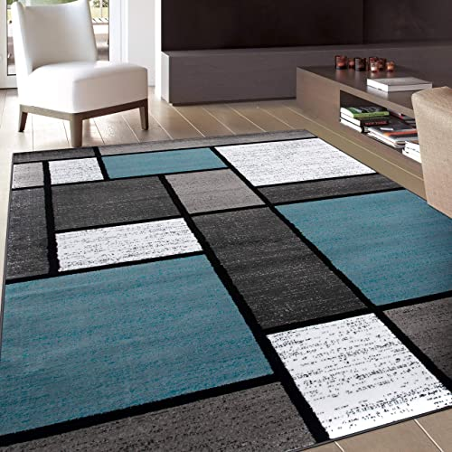 Modern Blue Carpet For Living Room