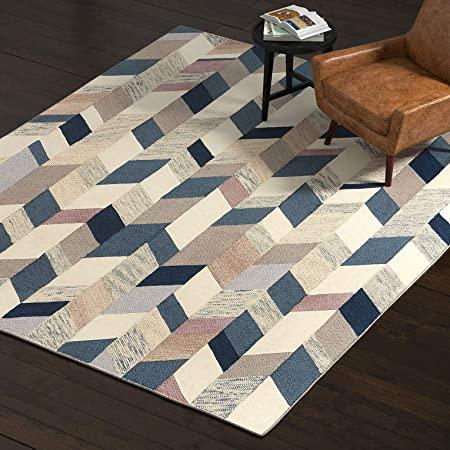 Amazon.com: Rivet Modern Geometric Wool Area Rug, 8 x 10 Foot .