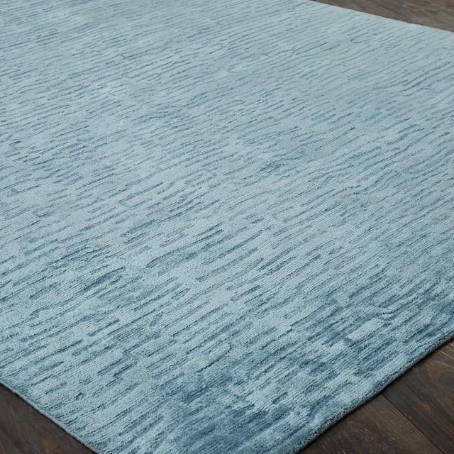 Modern Blue Wool Area Rugs