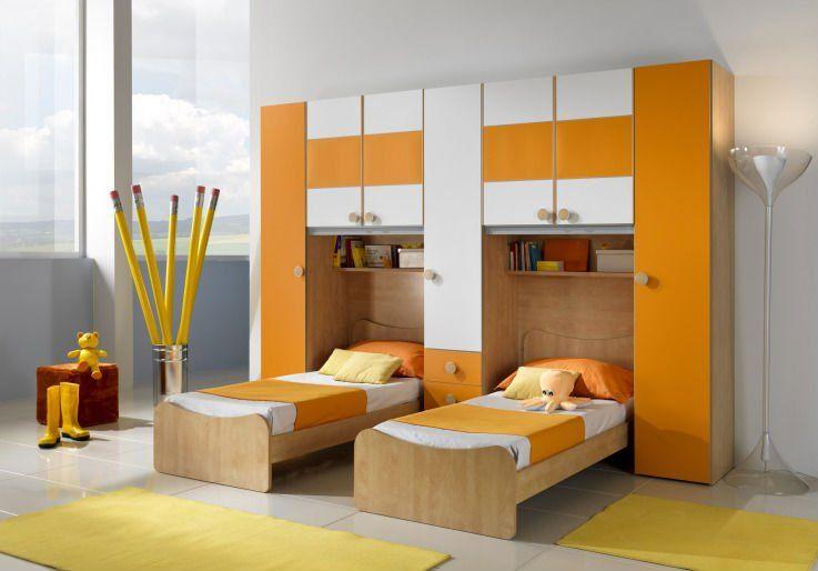 Modern Boys Bedroom Set With Desk
