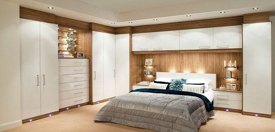 Modern Built In Cupboards Around Bed