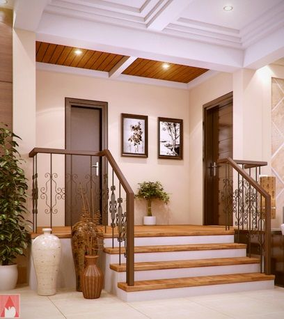 Modern Bungalow House of Traditional Touch with Splendid Interior .
