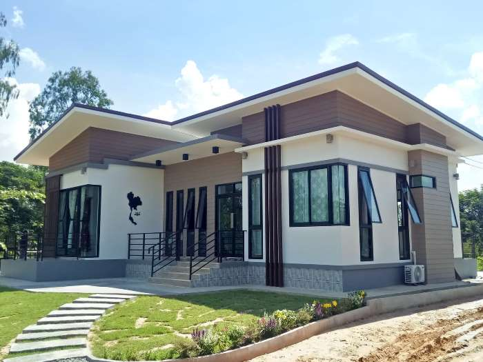 Contemporary bungalow with four bedrooms - Pinoy House Pla
