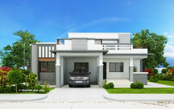 FOUR BEDROOM MODERN HOUSE DESIGN WITH WIDE ROOF DECK | Modern .
