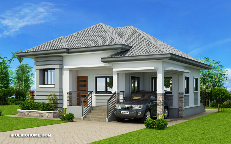 Modern Bungalow House Design With Three Bedrooms - Ulric Ho
