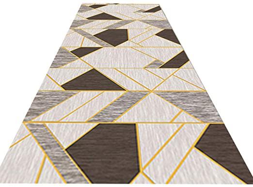 Amazon.com: Carpets Runner Brown Floor Decor Rugs Modern Geometric .