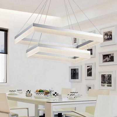 Modern Chandelier for Dining Room Kitchen Frosted Shade Level .